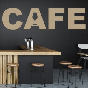 Cafe Text Wall Sticker Sign Wall Art
