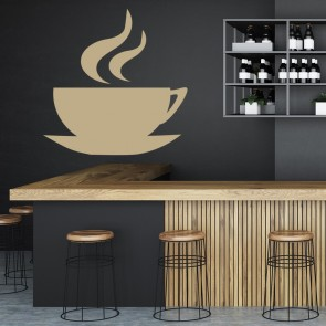 Coffee Cup Wall Stickers Cafe Wall Art