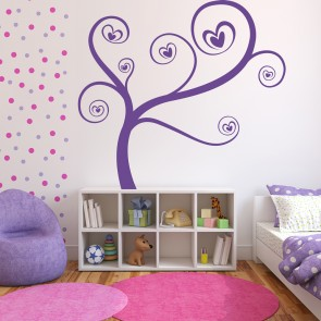 Love Heart Branches Wall Sticker Love Wall Art