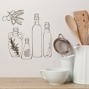 Seasoning Bottles Wall Sticker Kitchen Wall Art