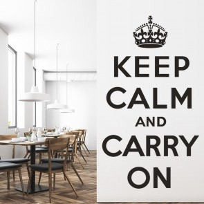 Keep Calm And Carry On Wall Sticker Keep Calm Wall Art