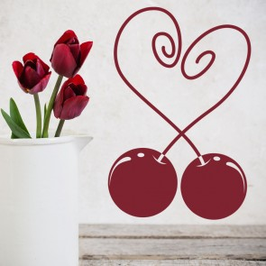 Love Heart Cherries Wall Sticker Love Wall Art