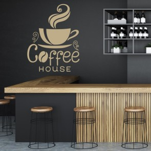 Coffee House Cup Wall Sticker Coffee Wall Art