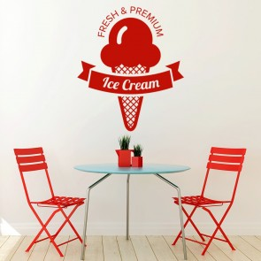 Fresh Ice Cream Decorative Wall Art Stickers Wall Decal