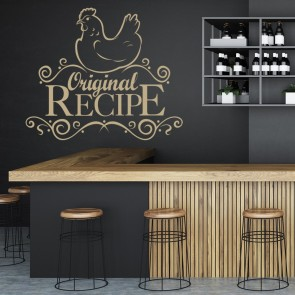 Original Recipe Wall Sticker Kitchen Wall Art