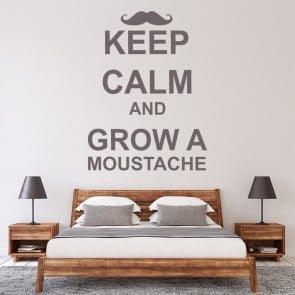 Keep Calm And Grow A Moustache Wall Sticker Keep Calm Wall Art