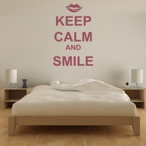 Keep Calm And Smile Wall Sticker Keep Calm Wall Art