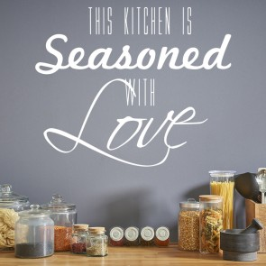 Seasoned With Love Wall Stickers Kitchen Wall Art