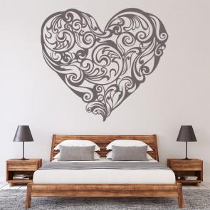 Floral Heart Decorative Wall Stickers Embellishment Wall Art