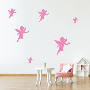 Cupid Silhouette Wall Sticker Creative Multi Pack Wall Decal Art