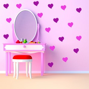Plain Heart Wall Sticker Creative Multi Pack Wall Decal Art