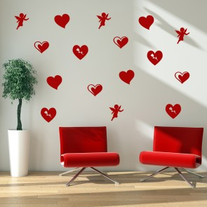 Valentine Group Wall Stickers Creative Multi Pack Wall Decal Art