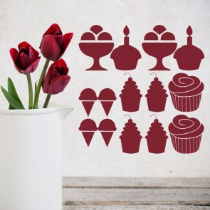 Cake Group Wall Stickers Creative Multi Pack Wall Decal Art