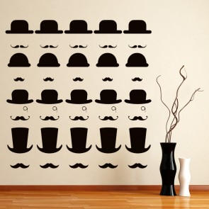 Top Hat Group Wall Stickers Creative Multi Pack Wall Decal Art