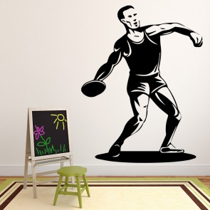 Discus Throwing Athletics Wall Sticker Sports Wall Art
