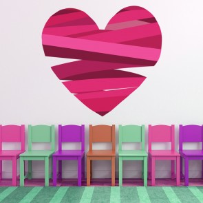Ribbon Love Heart Digital Wall Art Wall Sticker