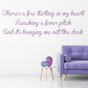 Adele 21 Rolling In The Deep Song Lyrics Wall Stickers Music Décor Art Decals