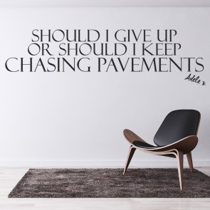 Adele 19 Chasing Pavements Song Lyrics Wall Stickers Music Décor Art Decals