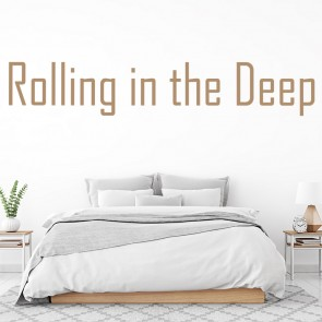 Adele 21 Rolling In The Deep Song Title Wall Stickers Music Décor Art Decals