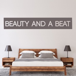 Beauty And A Beat Justin Bieber Song Title Wall Stickers Music Décor Art Decals