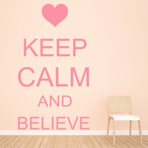 Keep Calm And Believe Justin Bieber Music Wall Stickers Home Décor Art Decals