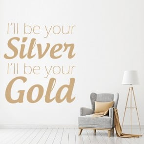 I'll Be Your Silver Justin Bieber Song Lyrics Wall Stickers Music Art Decals