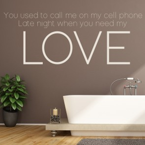 Hotline Bling Drake You Used To Call Me Song Lyrics Wall Stickers Music Decals