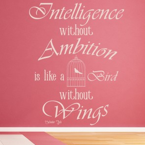 Intelligence Without Ambition Salvador Dali Quote Wall Sticker Home Art Decals