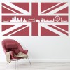 Union Jack Flag & London Landmarks United Kingdom Wall Stickers Home Art Decals