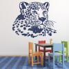 Leopard Head Portrait & Vines Wild Animals Wall Stickers Home Art Decals