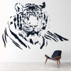 Tiger Profile Childrens Wild Animals Wall Stickers Home Decor Art Decals