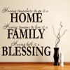 Home Family Blessing Family & Friends Quotes Wall Stickers Home Decor Art Decals