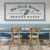 Hot Fresh Bread Food Quotes & Slogans Wall Stickers Kitchen Decor Art Decals