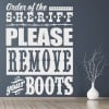 Order Of The Sheriff Please Remove… America USA Wall Stickers Home Art Decals