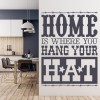 Home Is Where You Hang Your Hat America USA Wall Stickers Home Decor Art Decals