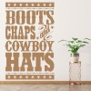 Boots Chaps And Cowboy State Badge America USA Wall Stickers Home Art Decals