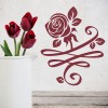 Rose Bud With Bottom Floral Decoration Wall Sticker Home Wall Art Decal
