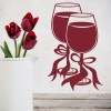 Wine Glasses With Ribbons Wedding Wall Stickers Occasion Decor Art Decals