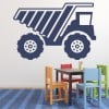 Digger Truck Skip Industrial Machines Wall Sticker Construction Decor Art Decals
