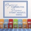 Organise Yourselves… Life And Inspirational Quote Wall Stickers Home Art Decals