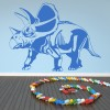 Torosaurus Prehistoric Dinosaur Wall Stickers Kids Nursery Bedroom Art Decals