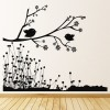Two Birds On Floral Branch Birds & Feathers Wall Stickers Home Decor Art Decals