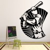 Baseball Player In Border Wall Art Sticker Wall Decal