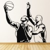 Basketball Players & Ball American Sports Wall Stickers Gym Home Decor Art Decal