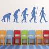 Evolution Of Man Ape To Man People And Faces Wall Stickers Home Decor Art Decals