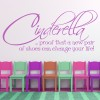 Cinderella Funny Motivational Life And Inspirational Quote Wall Stickers Decals