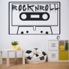 Rock N Roll Cassette Tape Musicians & Band Logos Wall Stickers Music Art Decals