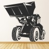 Tipper Truck Industrial Machines Wall Stickers Construction Decor Art Decals
