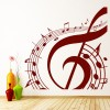Treble Clef Musical Notes Circle Musical Notes & Instruments Wall Stickers Decal