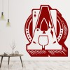 Ace Of Spades Card & Letter A Playing Cards Games Wall Stickers Home Art Decals
